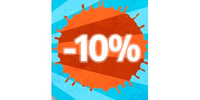 10% off while we're on holiday!
